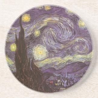 Nuit étoilée par Vincent van Gogh, beaux-arts Dessous De Verres