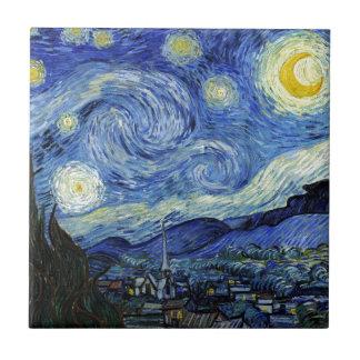 Nuit étoilée par Vincent van Gogh Petit Carreau Carré