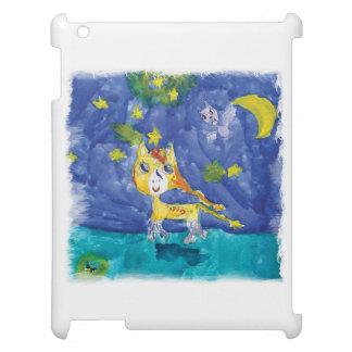 Nuit étoilée Pegasus d'aquarelle avec la batte Coque iPad