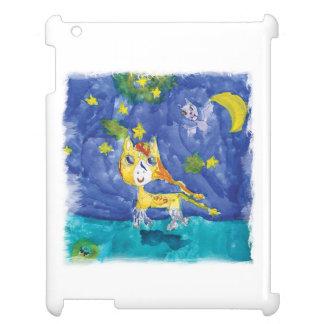 Nuit étoilée Pegasus d'aquarelle avec la batte Coques iPad