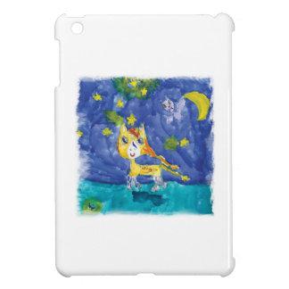 Nuit étoilée Pegasus d'aquarelle avec la batte Étui iPad Mini
