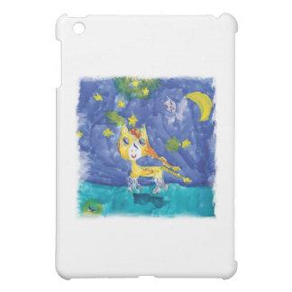Nuit étoilée Pegasus d'aquarelle avec la batte Étuis iPad Mini