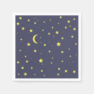 Nuit étoilée serviette jetable