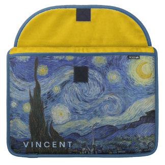 Nuit étoilée Vincent van Gogh personnalisé Poches Pour Macbook