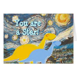 Nuit étoilée vous êtes une carte de dinosaures