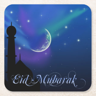Nuit magique d'Eid - dessous de verre islamiques Dessous-de-verre Carré En Papier