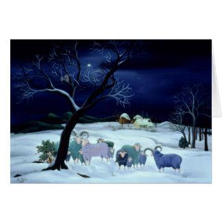 Nuit sainte 1995 de nuit silencieuse carte de vœux