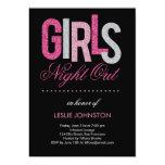 Nuit scintillante de filles/partie de Bachelorette Carton D'invitation 12,7 Cm X 17,78 Cm