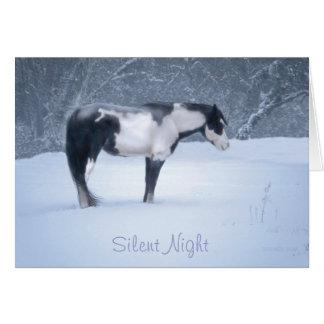 Nuit silencieuse carte de vœux