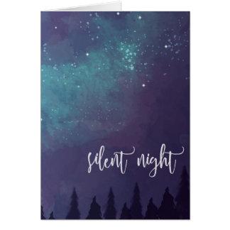 Nuit silencieuse - carte de voeux de Noël