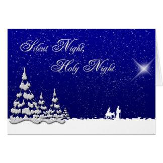 Nuit silencieuse de Noël d'hiver Carte De Vœux