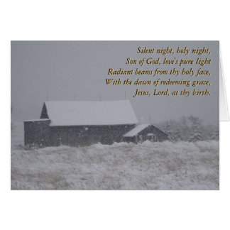Nuit silencieuse, nuit sainte… carte de vœux