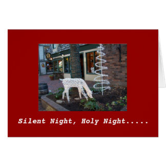Nuit silencieuse, nuit sainte carte de vœux