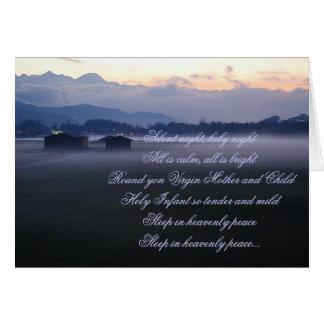 Nuit silencieuse, nuit sainte cartes