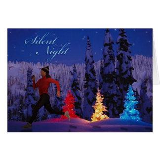 Nuit silencieuse - paix femelle de la saison carte de vœux