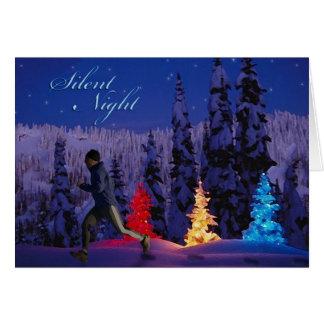 Nuit silencieuse - paix masculine de la saison cartes