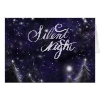 Nuit silencieuse - scène de neige de vacances cartes