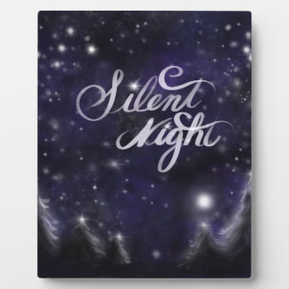 Nuit silencieuse - scène romantique de neige de plaque photo