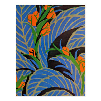 Nuit tropicale de l'art déco de Seguy - carte Cartes Postales
