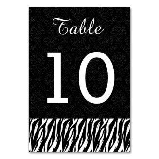 Numéro 10 V004 de Tableau de mariage de ZÈBRE