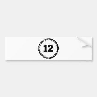 Numéro 12 autocollant pour voiture