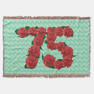 Numéro 75 roses rouges du soixante-quinzième couverture
