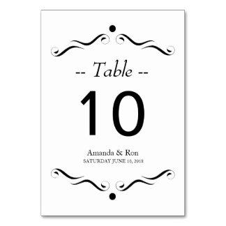 Numéro de carte noir décoratif de Tableau d'accent