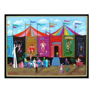 Numéro de cirque de carnaval carte postale