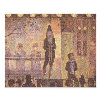Numéro de cirque de cirque par Georges Seurat Prospectus 11,4 Cm X 14,2 Cm