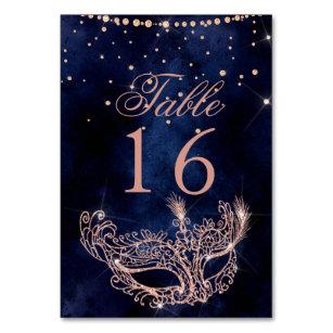Numéro De Table Étincelles roses élégantes de parties