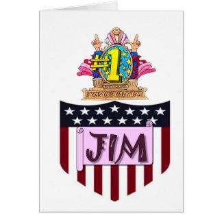 Numéro un JIM Carte De Vœux