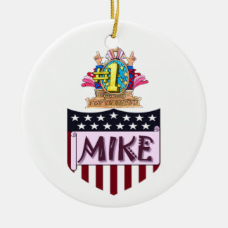 Numéro un Mike Ornement Rond En Céramique