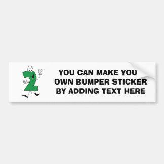 Numérotez les 2èmes T-shirts et cadeaux d'annivers Autocollant De Voiture