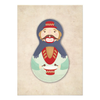 Nutcracker, Russian doll christmas card Invitations Personnalisées