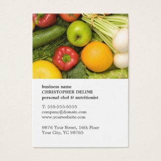 Nutritionniste personnel végétal unique moderne de cartes de visite