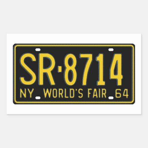 NY64 STICKER RECTANGULAIRE