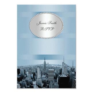 NYC a gravé à l'eau-forte l'horizon 2A, le noir Carton D'invitation 8,89 Cm X 12,70 Cm
