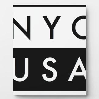NYC ETATS-UNIS PLAQUE PHOTO