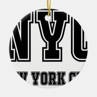 NYC New York City Ornement Rond En Céramique