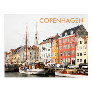 Nyhavn, carte postale de voyage de Copenhague