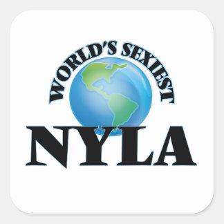 Nyla le plus sexy du monde sticker carré
