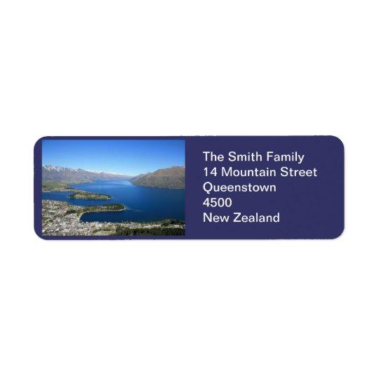 NZ de Queenstown, étiquette de adresse personnalis