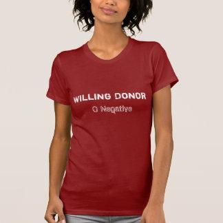 O disposé de donateur t-shirt