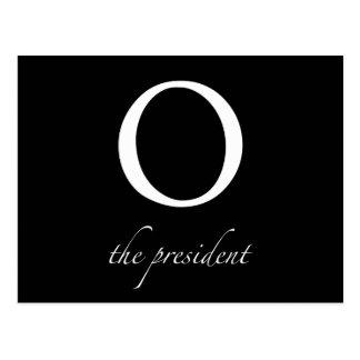 O   le Président carte postale