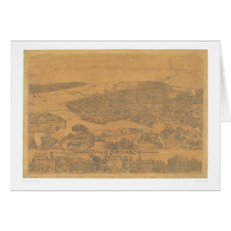 Oakland, carte panoramique 1881 (1231A) de CA
