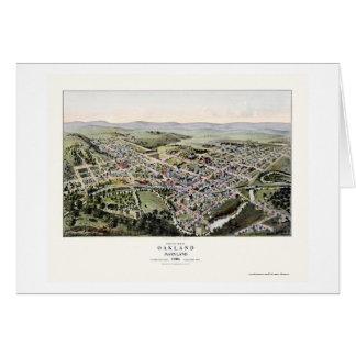 Oakland, carte panoramique de DM - 1906