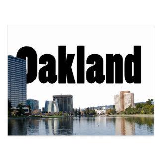 Oakland la Californie avec Oakland dans le ciel Carte Postale