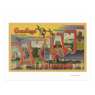Oakland, la Californie - grandes scènes de lettre Carte Postale