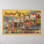 Oakland, la Californie - grandes scènes de lettre Posters