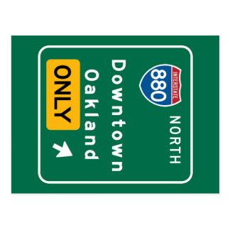 Oakland, panneau routier de CA Carte Postale